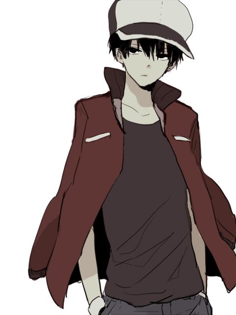 Tags: Anime, Pixiv Id 2489888, Pokémon, Red (Pokémon), Pixiv, Fanart