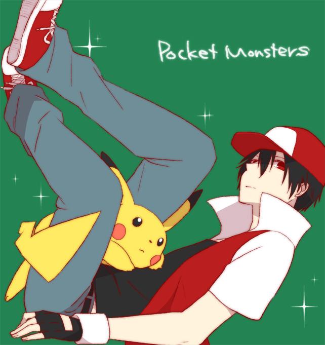 Tags: Anime, Pixiv Id 1642557, Pokémon, Pikachu, Red (Pokémon), In a Box