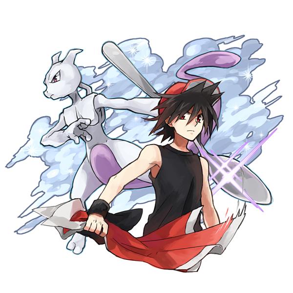 Tags: Anime, Seina-n, Pokémon SPECIAL, Pokémon, Mewtwo, Red (Pokémon), Wristband