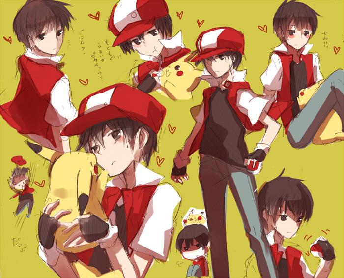 Red Pok 233 Mon Pok 233 Mon Red Amp Green Image 752433 Zerochan Anime Image Board