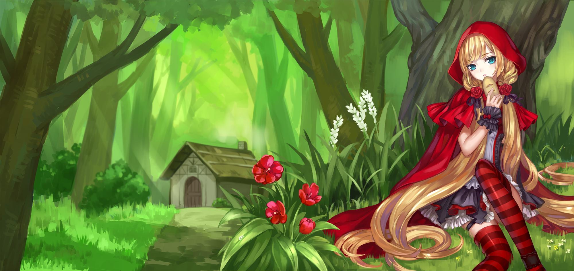 Красная шапочка в лесу рисунок нужно включить