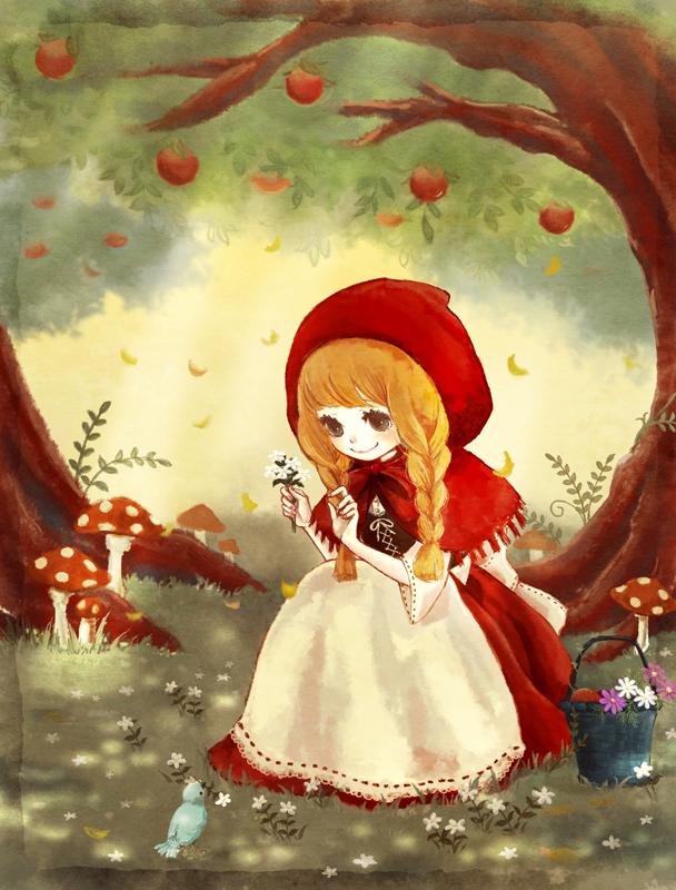 Красная шапочка в лесу рисунок обеспечим