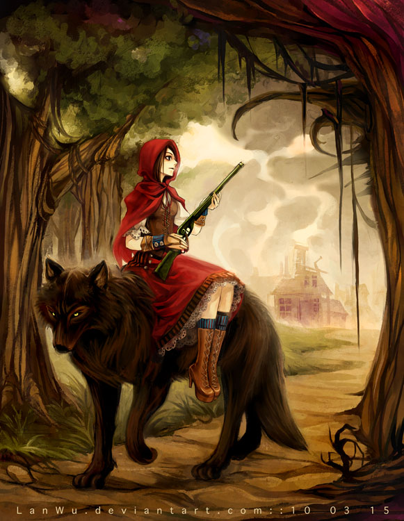 Tags: Anime, Lan Wu, Red Riding Hood, Red Riding Hood (Character), Big Bad Wolf, Sidesaddle, deviantART
