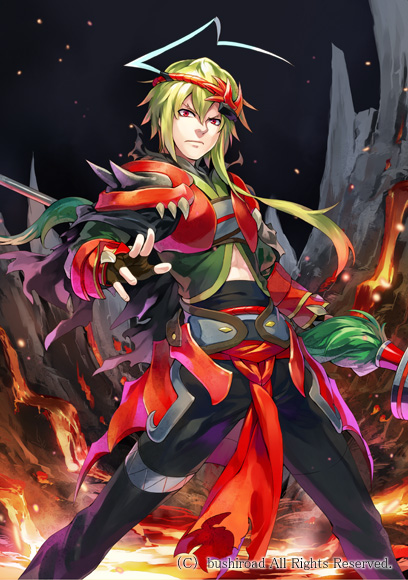 Tags: Anime, Ryuutetsu, Bushiroad, Cardfight!! Vanguard - Official Card Illustration, Cardfight!! Vanguard, Red River Dragoon, Official Art, Mobile Wallpaper, Official Card Illustration, Vanguard Race: Human, Vanguard Unit, Narukami