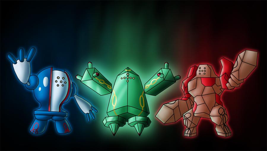Regi Trio Pok 233 Mon Image 401186 Zerochan Anime Image