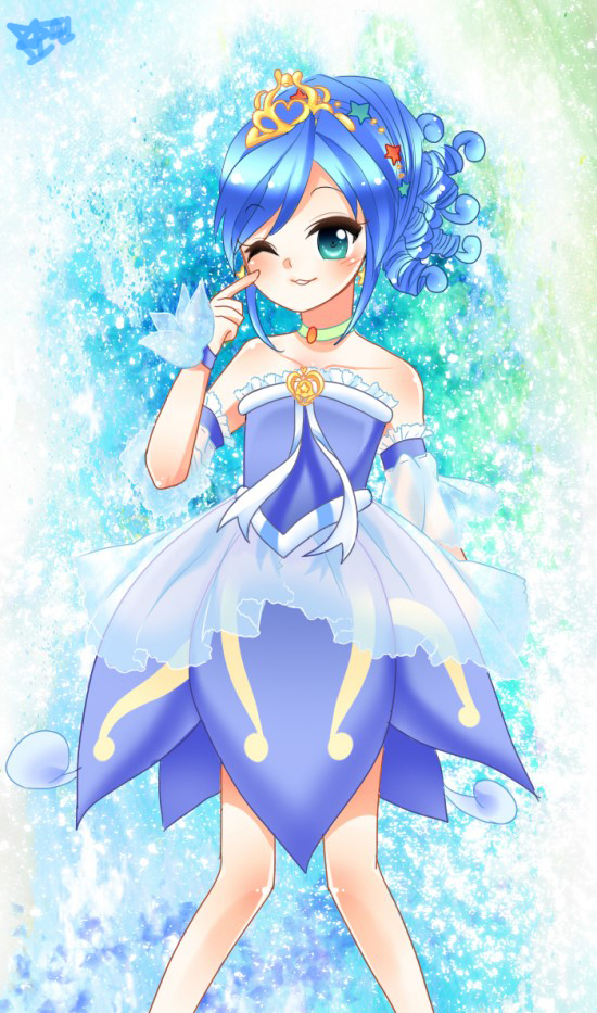 Tags: Anime, Princess, Fushigiboshi no☆Futagohime, Rein, Gown, Wristband, Flower Skirt