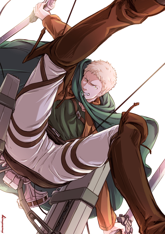 Tags: Anime, marumary, Attack on Titan, Reiner Braun, Fanart, Fanart From Pixiv, Mobile Wallpaper, Pixiv