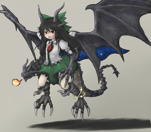 Tags: Anime, Fanart, Touhou, Bahamut, Final Fantasy XI