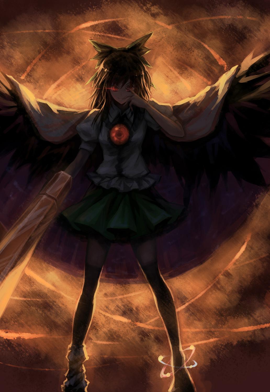 reiuji utsuho utsuho reiuji touhou zerochan anime