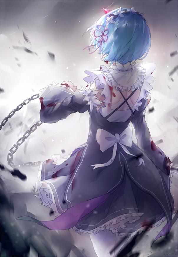Tags: Anime, Pixiv Id 10589138, Re:Zero Kara Hajimeru Isekai Seikatsu, Rem (Re:Zero), PNG Conversion, Mobile Wallpaper
