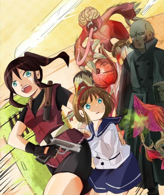 Tags: Anime, Pixiv Id 3155533, Resident Evil, Sherry Birkin, Claire Redfield, Tyrant (Biohazard), William Birkin, Pixiv, Biohazard