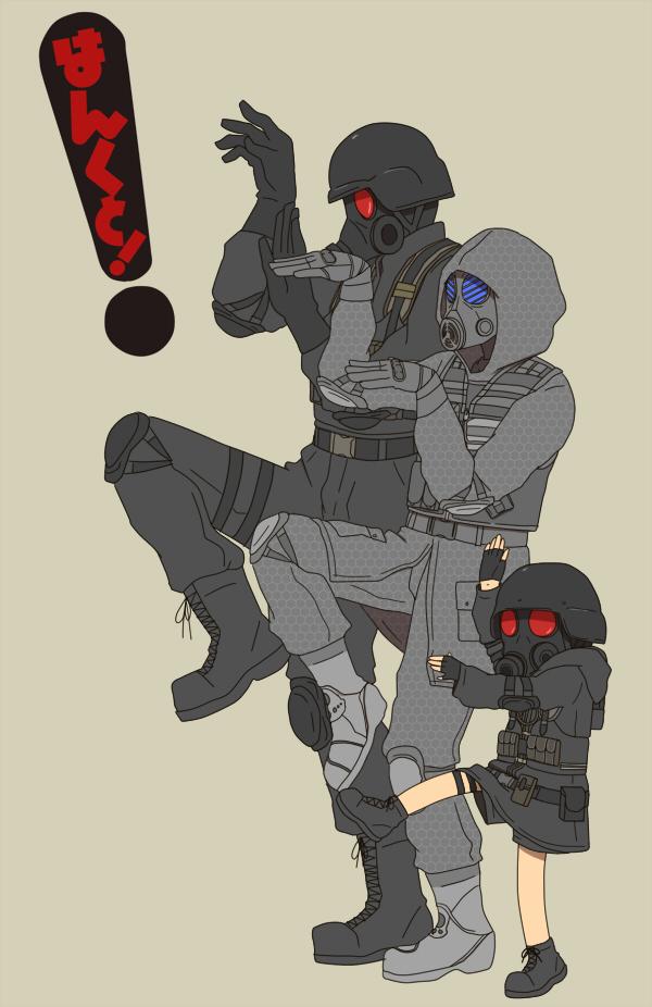 Tags: Anime, Pixiv Id 5432076, Resident Evil, Hunk, Lady Hunk, Vector (BIOHAZARD), Yotsuba&! (Parody), Mobile Wallpaper, Pixiv, Uss, Biohazard