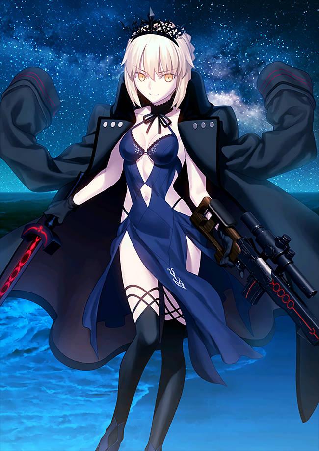 Tags: Anime, Fate/Grand Order, Rider (Artoria Pendragon Alter), Saber Alter, Saber (Fate/stay night)