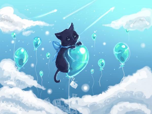Tags: Anime, RinRinDaishi, Blue Ribbon, Letters, Flying, Balloon