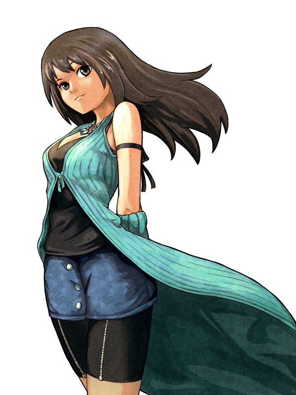 Tags: Anime, Shiba Murashouji, Final Fantasy VIII, Rinoa Heartilly, Denim Skirt, Bike Shorts, Fanart From Pixiv, Fanart, Pixiv