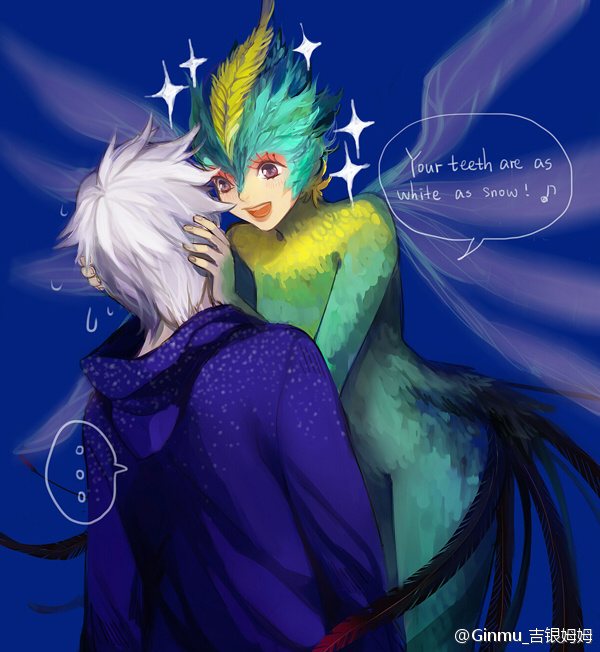 Tags: Anime, Ginmu, Rise of the Guardians, Toothiana, Jack Frost, Bird Person, Fanart