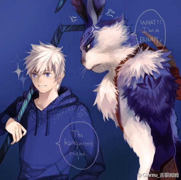 Tags: Anime, Ginmu, Rise of the Guardians, E. Aster Bunnymund, Jack Frost, Fanart