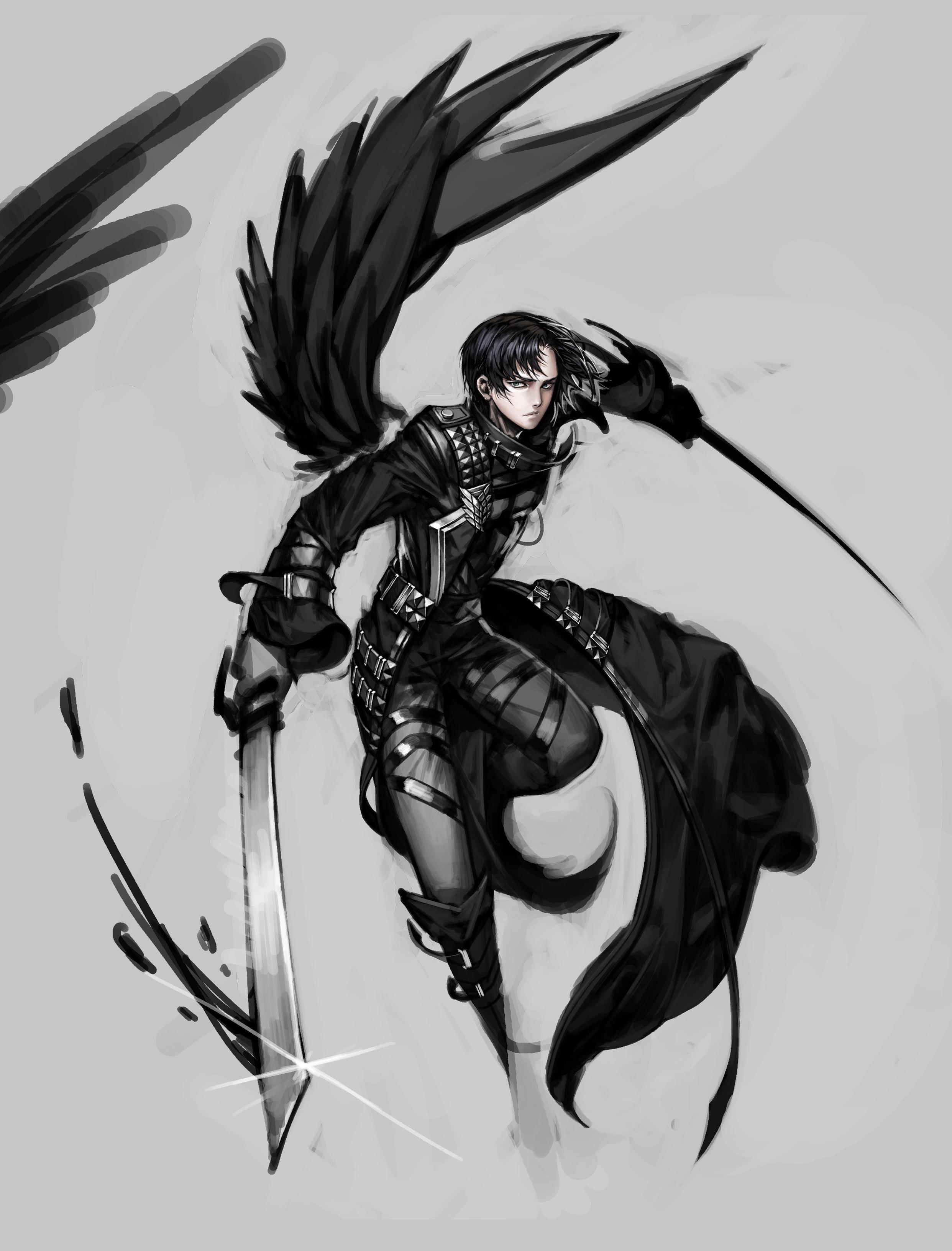 Anime Characters Use Dual Swords : Levi zerochan