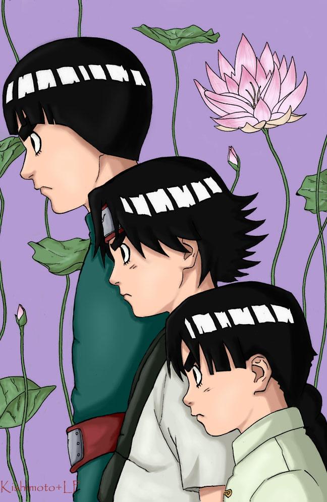 Tags: Anime, NARUTO, Rock Lee, Age Progression, Artist Request, Colorization