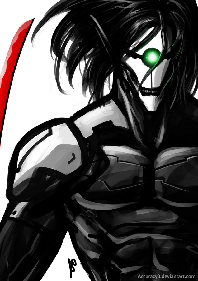 Tags: Anime, Accuracy0, KONAMI (Studio), Attack on Titan, Metal Gear Solid, Rogue Titan, Gray Fox, Eren Jaeger, Metal Gear Solid (Parody), Mobile Wallpaper