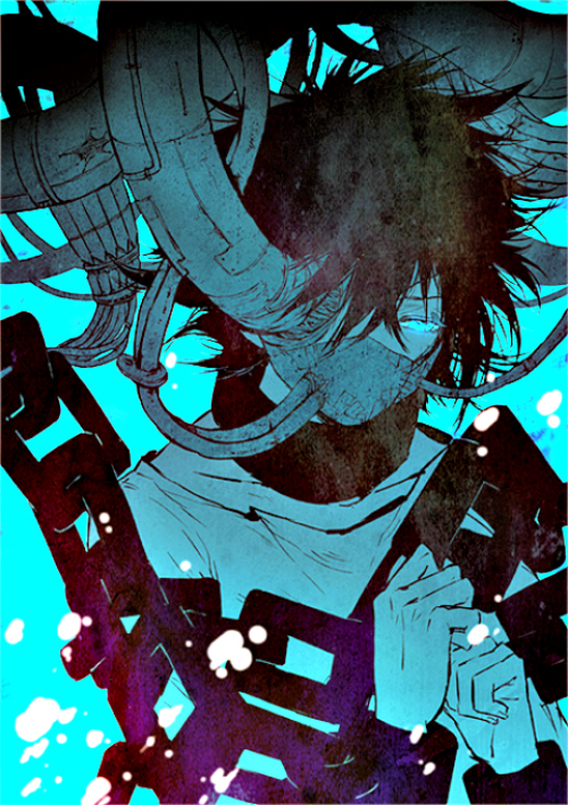 Tags: Anime, Zhuo Mi, Katekyo Hitman REBORN!, Rokudou Mukuro, Shackles, Machine, Vendicare, Mobile Wallpaper