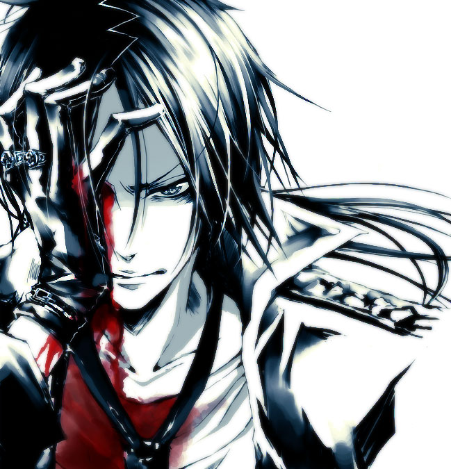 Tags: Anime, Katekyo Hitman REBORN!, Rokudou Mukuro, Hand Over One Eye, Glaring, Artist Request, Fanart