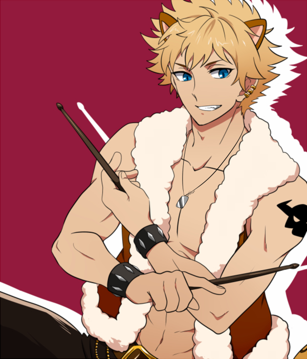 Tags: Anime, M050607, Show by Rock!!, Rom (Show by Rock!!), 600x700 Wallpaper, Drumsticks, Fanart