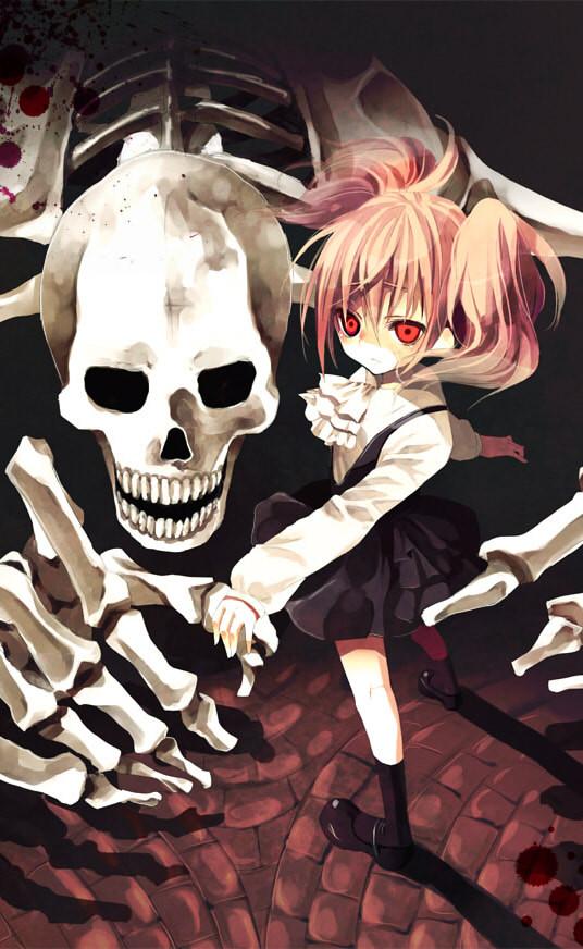 Tags: Anime, Hinazawa Kirie, Inu x Boku SS, Roromiya Karuta, Fanart, Mobile Wallpaper