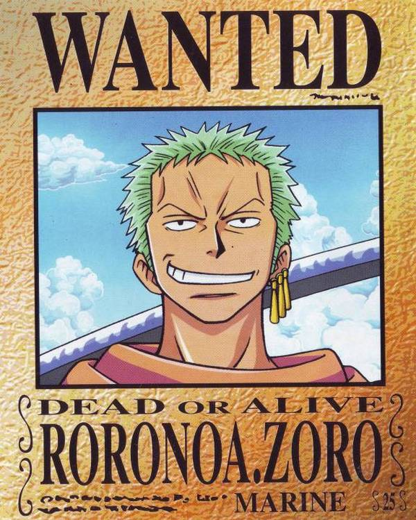 Tags: Anime, ONE PIECE, Roronoa Zoro, Wanted Poster