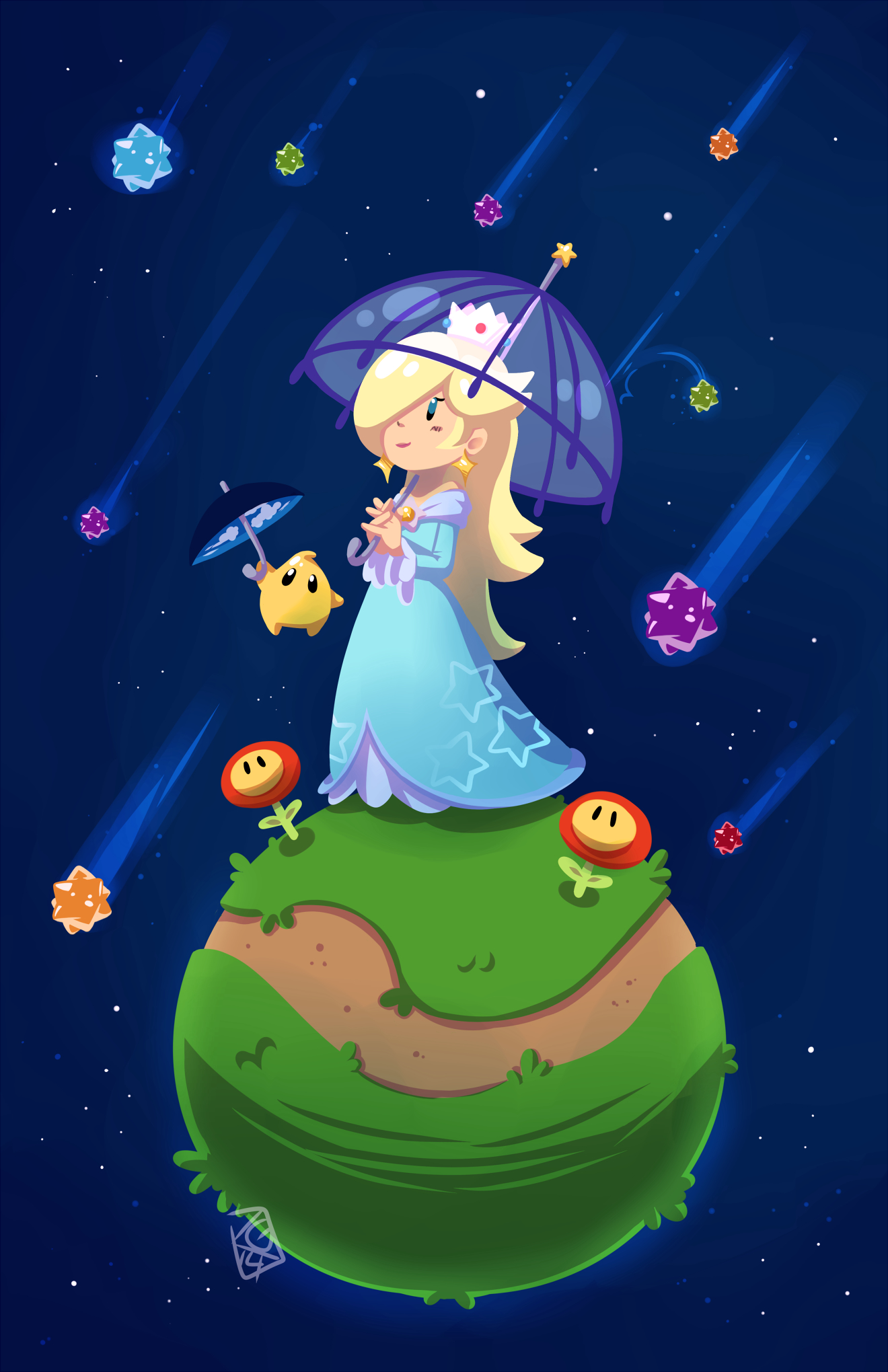 Super Mario Galaxy Mobile Wallpaper Zerochan Anime Image