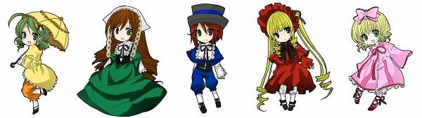 Tags: Anime, Pixiv Id 2050091, Rozen Maiden, Shinku, Hinaichigo, Kanaria, Souseiseki
