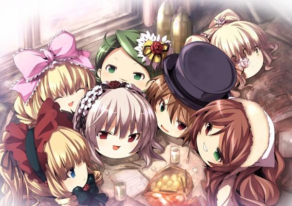 Tags: Anime, Tousen, Rozen Maiden, Shinku, Kanaria, Hinaichigo, Souseiseki