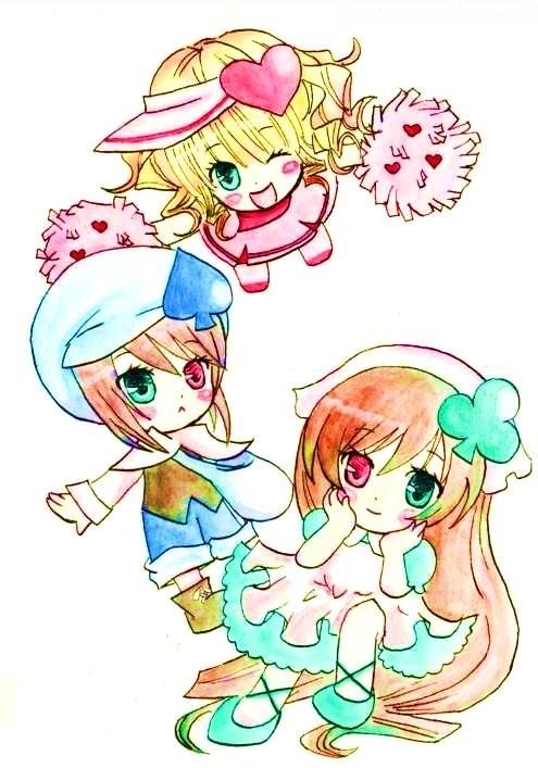 Tags: Anime, Pixiv Id 688841, Rozen Maiden, Shugo Chara!, Souseiseki, Suiseiseki, Hina Ichigo, Miki (Shugo Chara!) (Cosplay), Ran (Shugo Chara!) (Cosplay), Su (Shugo Chara!) (Cosplay)