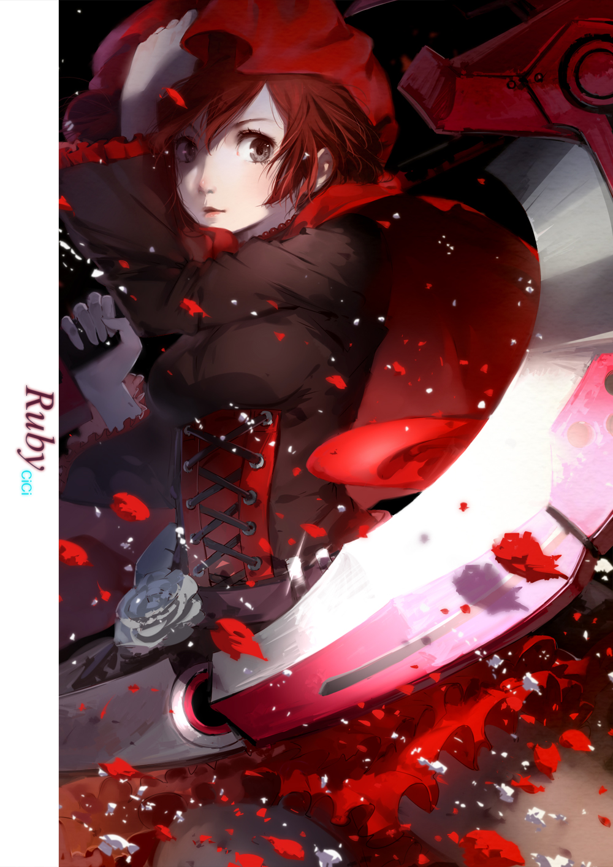 Tags Anime Cici RWBY Ruby Rose Fanart Mobile Wallpaper