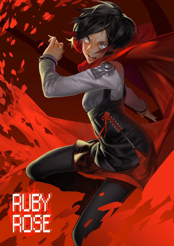 Ruby rose rwby mobile wallpaper 1818498 zerochan - Rwby ruby rose fanart ...