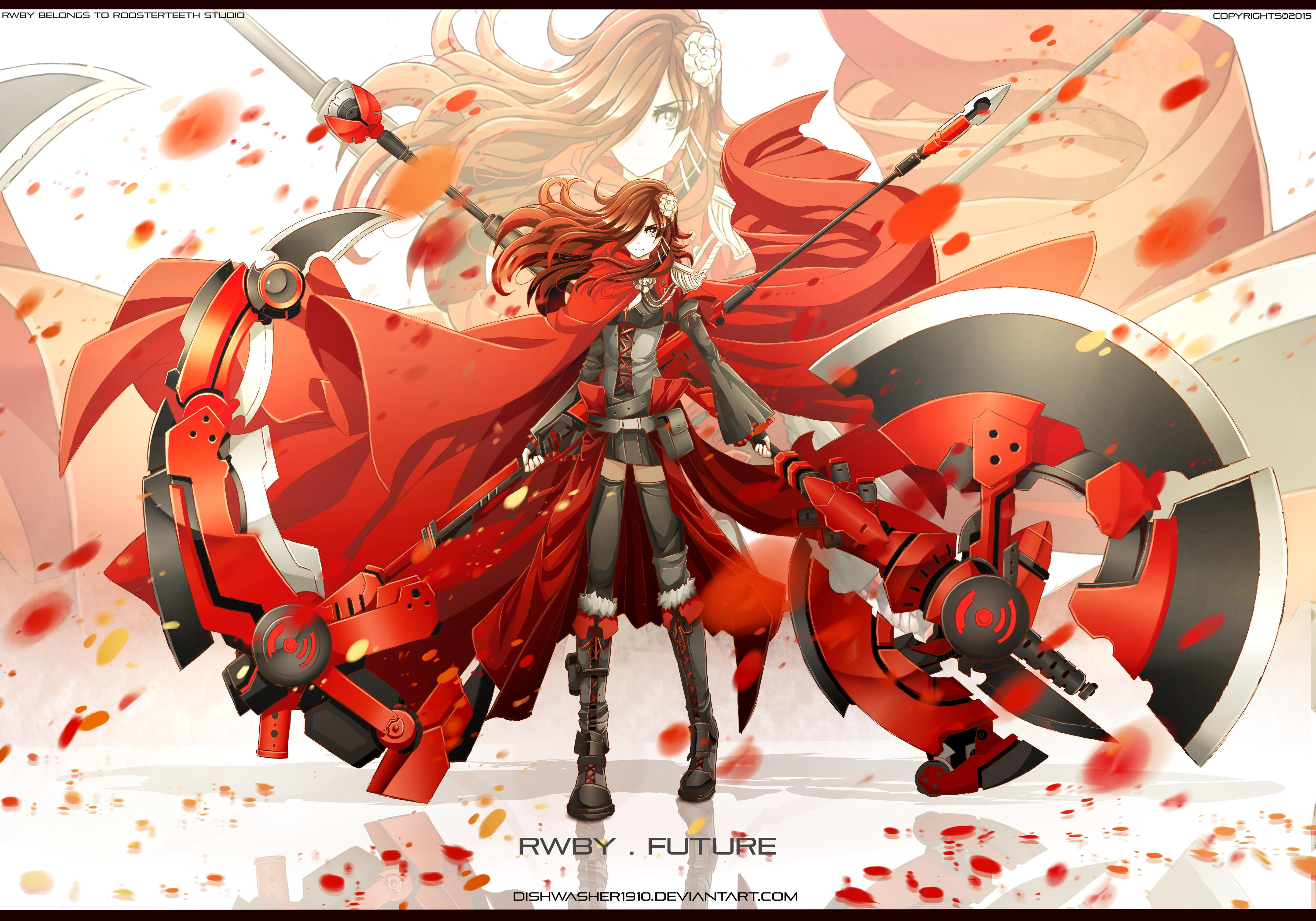 Ruby rose rwby image 1901469 zerochan anime image board - Rwby ruby rose fanart ...