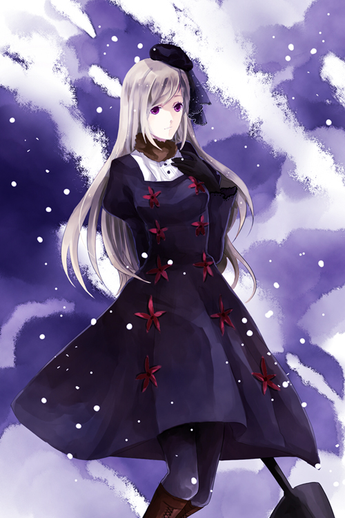 Tags: Anime, Sakanako (pixiv1134760), Axis Powers: Hetalia, Russia (Female), Shovel, Player 2, Fanart, Nyotalia, Mobile Wallpaper, Pixiv