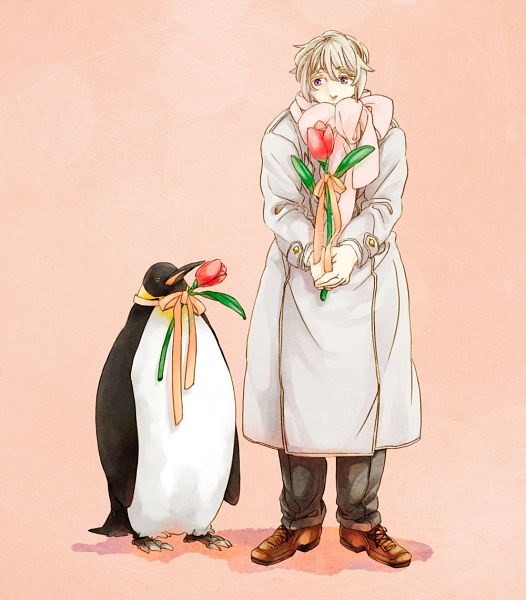 Tags: Anime, Pixiv Id 417497, Axis Powers: Hetalia, Russia, Tulip, Penguin, Allied Forces