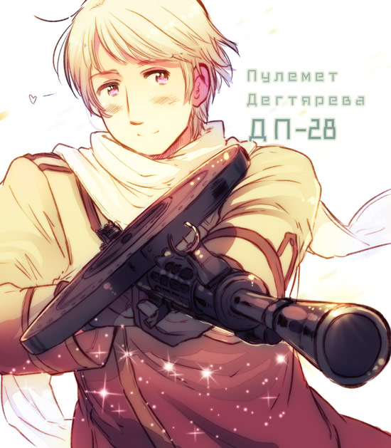 Tags: Anime, Himaruya Hidekaz, Axis Powers: Hetalia, Call of Duty, Russia, Machine Gun, Russian Text, Official Art, Soviet Union, Allied Forces
