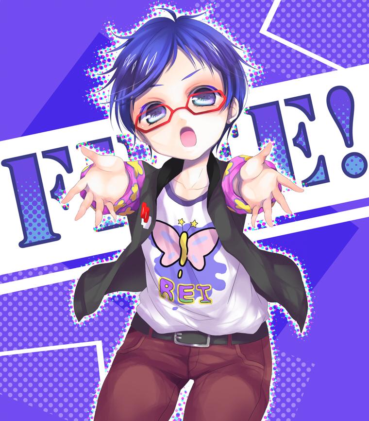 Pixiv Id 4411474, Free!, Ryugazaki Rei, Semi Chibi, Red-framed Glasses ...