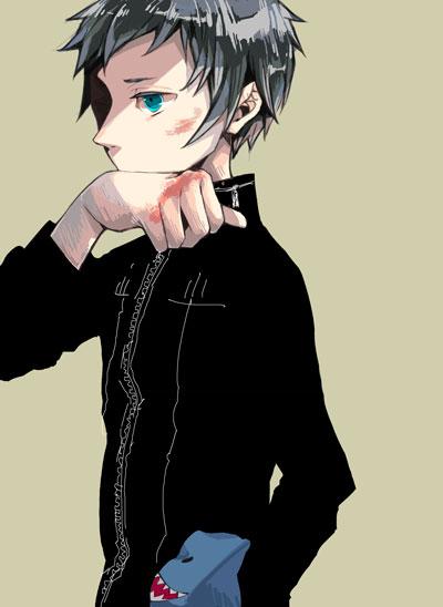 Tags: Anime, Green Sky (Artist), DURARARA!!, Ryuugamine Mikado, Pixiv, Fanart