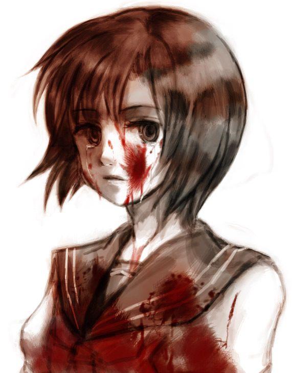 Tags: Anime, 07th Expansion, Higurashi no Naku Koro ni, Ryuuguu Rena, Blank Stare, Artist Request