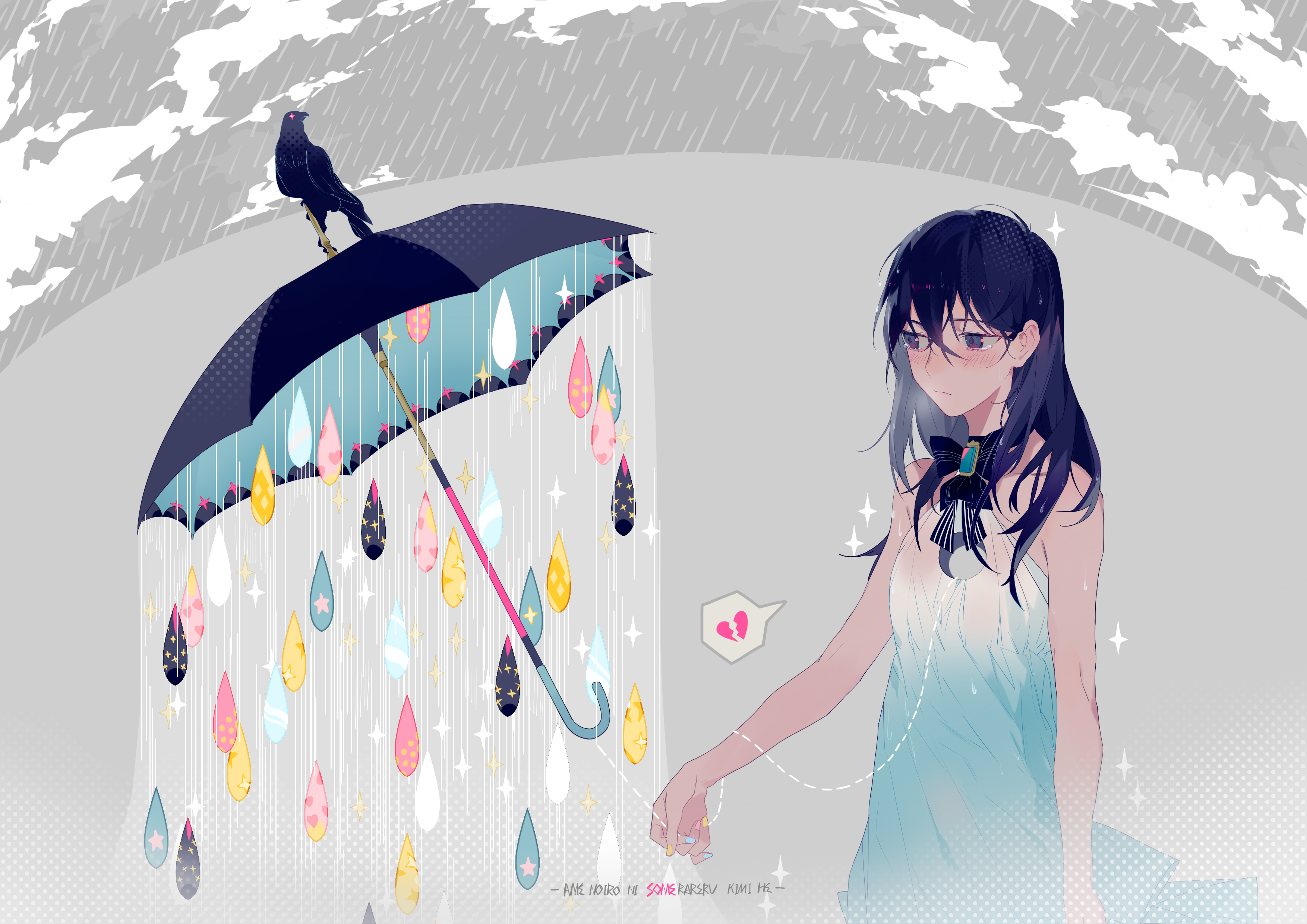 Broken Heart Sad Anime Girl Base