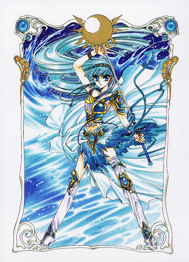 Tags: Anime, CLAMP, Magic Knight Rayearth, Ryuuzaki Umi, Asymmetrical Footwear, Mobile Wallpaper, Official Art