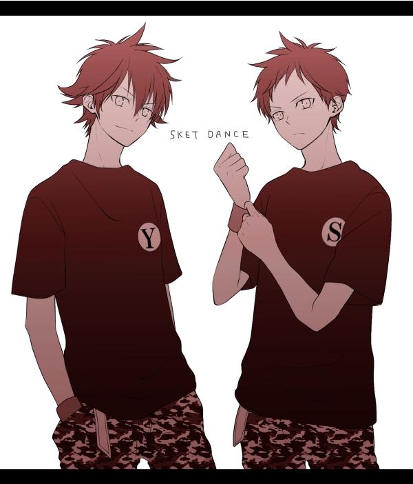 Tags: Anime, Pixiv Id 2480438, SKET Dance, Tsubaki Sasuke, Fujisaki Yusuke, Side by Side