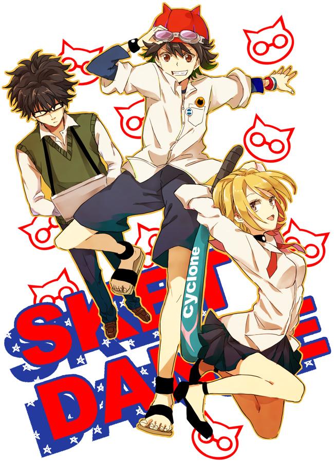 Tags: Anime, Masui, SKET Dance, Fujisaki Yusuke, Onizuka Hime, Usui Kazuyoshi, Mobile Wallpaper, Fanart From Pixiv, Pixiv, Fanart