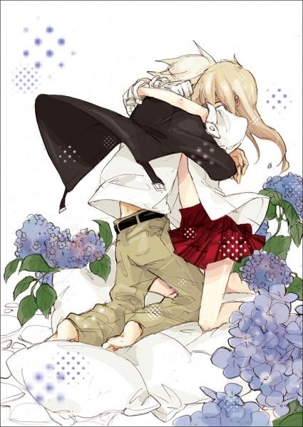 Tags: Anime, Katsura Miya, SOUL EATER, Soul Eater Evans, Maka Albarn, Pillow, Jeans