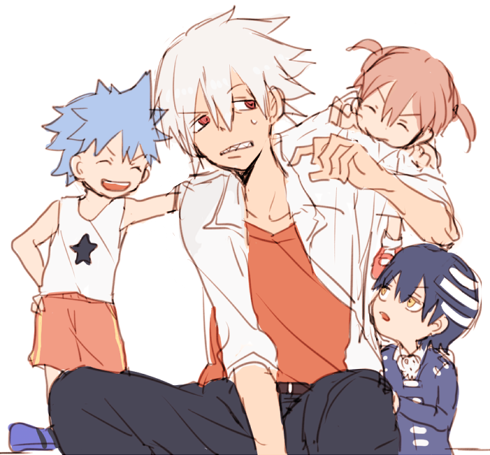 Tags: Anime, Ame Sumomo, SOUL EATER, Black Star, Death the Kid, Maka Albarn, Soul Eater Evans