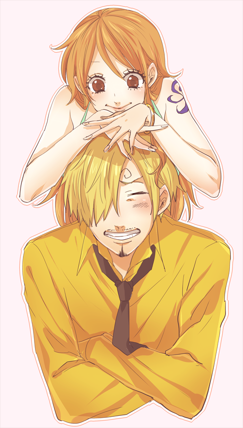 Tags: Anime, Pixiv Id 520618, ONE PIECE, Sanji, Nami (ONE PIECE), Fanart From Pixiv, PNG Conversion, One Piece: Two Years Later, Fanart, Mobile Wallpaper, Pixiv, SaNa (Pairing)
