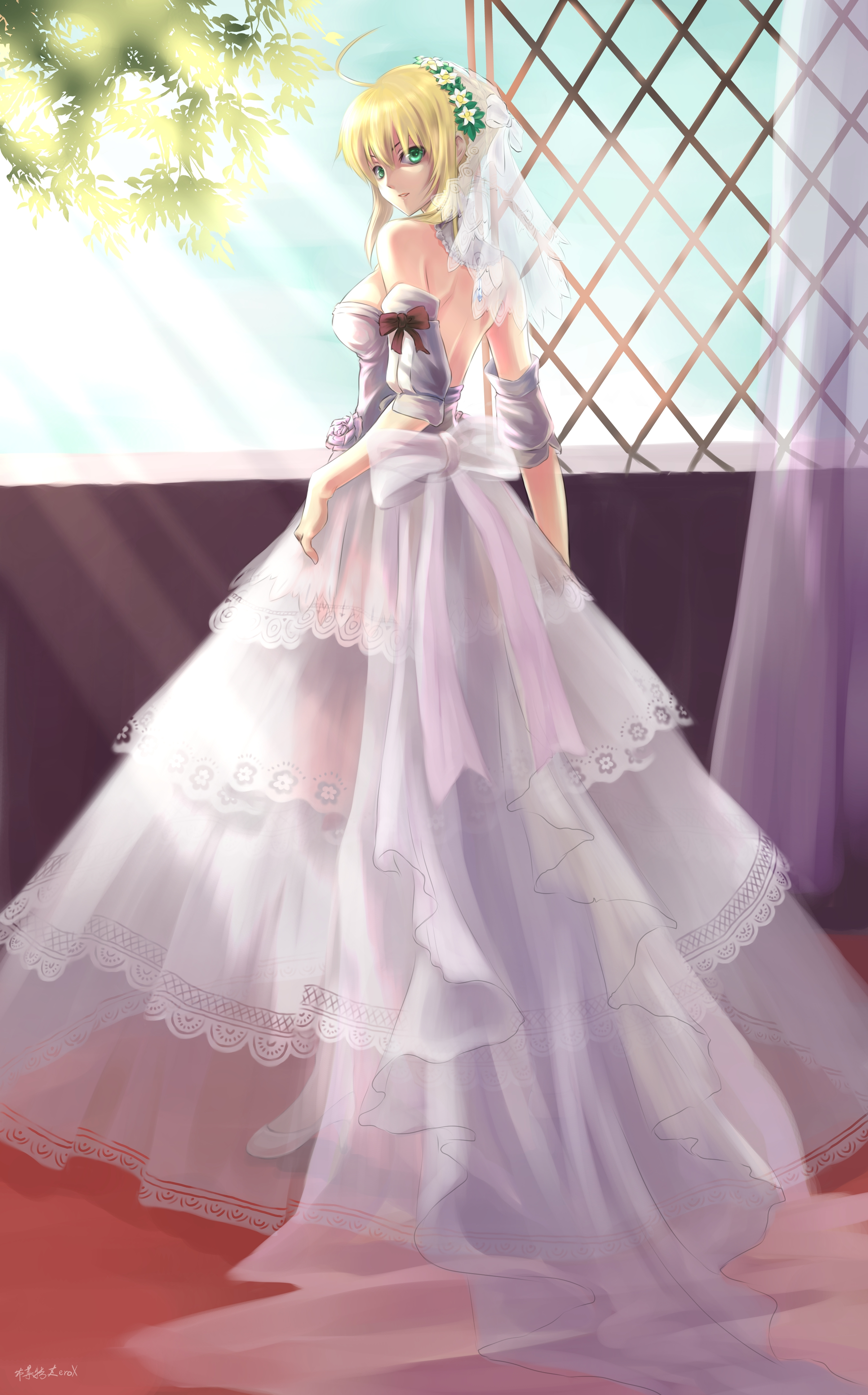 Saber fate stay night 1279502 zerochan for Night dress for wedding night